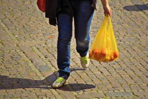 plastic bag used for shopping